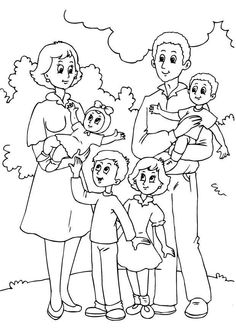 Family Coloring Pages, Coloring Sheets For Kids, Free Adult Coloring Pages, Bible Coloring Pages, Coloring Pages For Girls, Coloring Books, Preschool Family, Family Crafts, Coloring Pictures For Kids