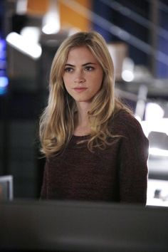 "Bishop (Emily Wickerson) in ""Monsters and Men"" Season 11 Episode 14 (photo by Cliff Lipson/CBS)"