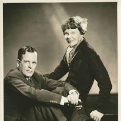 Amelia Earhart and her husband, George
