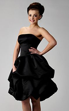 Ball Gown Strapless Knee-length Satin Bridesmaid/ Wedding Pa... – USD $ 88.19