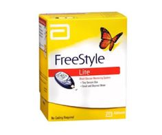 Freestyle Freedom Lite Blood Glucose Monitoring System, 1 each by Freestyle (Pack of Blood Glucose Monitor, Glucose Test, Freestyle, Contour Next, Good Blood Pressure, Best Fitness Tracker, Weight Loss Shakes, Kit, Get The Job