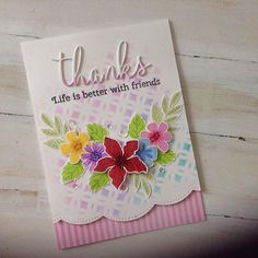 The latest card I have made using the mft modern blooms flower building stamp…