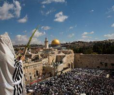 Worshippers at the Kotel during Sukkot. (Photo: Yonatan Sindel/Flash90)