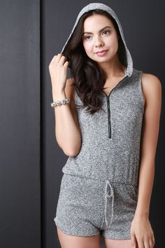 00ab96b6a5d Buy Drawstring Zipper Hoodie Romper at Marks Urban Wear® for only  45.63