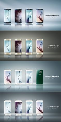 All colors of the new #GALAXYS6edge at a glance! You can read more about Samsung's flagships on ► www.tnw.to/mwc2015