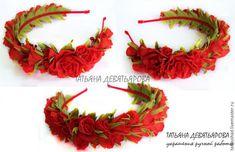 Как собрать в ободок розы из фоамирана - Ярмарка Мастеров - ручная работа, handmade