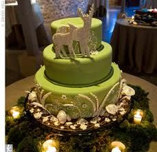 Check out green wedding cake designs! Deer Wedding, Forest Wedding, Wedding Ideas, Enchanted Forest Theme, Deer Cakes, And So It Begins, Cake Cover, Round Cakes, Themed Cakes