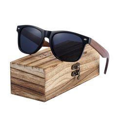 89ddc5f23c Black Walnut Sunglasses Wood Polarized Sunglasses Men Glasses Men UV400  Protection Eyewear Wooden Original Box