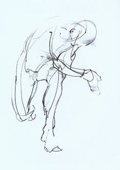 Figure Drawings by Meiling Chen, via Behance