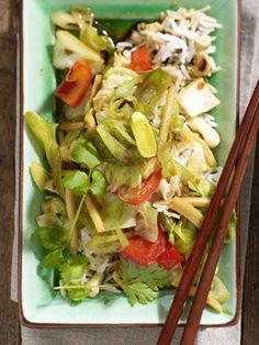 Gemüsewok mit Chili-Ingwer-Marinade und Duftreis