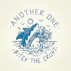 Shark Tattoos, Body Art Tattoos, Cool Tattoos, Symbole Tattoo, Art Et Design, Graphic Design, Tatto Old, Pizza Art, Shark Week