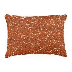 Stylish Brown Glitter Decorative Pillow