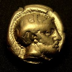 ARES &.AMAZON FIGHTER. Ancient Greek Gold Coin.Lesbos.Mytilene.1/6 stater.Hecte