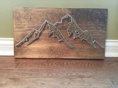 Mountain String Art