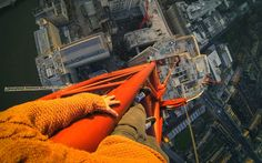 Daredevil James Kingston illegally climbs the Southbank Tower in London