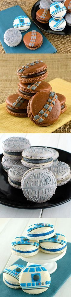 STAR WARS Themed Macarons Look Delicious These are definitely the macarons I've been looking for! Semi Sweet Designs created these fantastic Star Wars