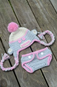 3-6 Month Girlie Pink Sock Monkey Set