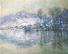 The Seine at Port Villez, Snow Effect by Claude Monet, c1885