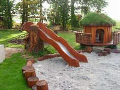 GORGEOUS playground! This here, really is a call for me to learn how to build with wood.