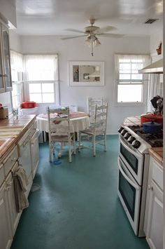 a warm conversation: work with what you got-paint your linoleum