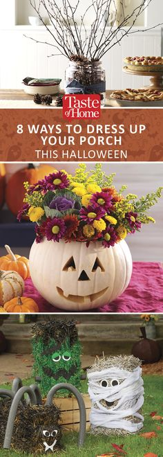 8 Ways to Dress up Your Porch This Halloween (from Taste of Home)