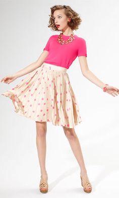 Kate Spade Melody Polka Dot Skirt