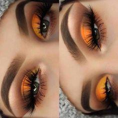 Gorgeous Makeup: Tips and Tricks With Eye Makeup and Eyeshadow – Makeup Design Ideas Makeup Eye Looks, Cute Makeup, Gorgeous Makeup, Pretty Makeup, Skin Makeup, Eyeshadow Makeup, Eyeliner, Makeup Brushes, Yellow Eyeshadow