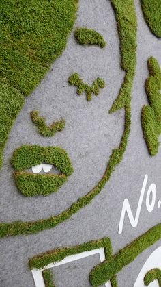 As the warmth approaches us, despite Punxsutawney Phil's ominous prediction, we'll inevitably be in search of fun things to do. Well, look no further than moss paint, which I would tota… Green Art, Go Green, Jardin Vertical Artificial, Moss Paint, Moss Wall Art, Moss Garden, Diy Garden Projects, Garden Ideas, Garden Tips