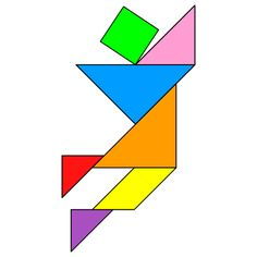 Tangram Jump - Tangram solution #15 - Providing teachers and pupils with tangram puzzle activities