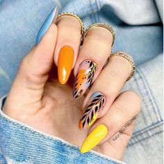 Glam Nails, Fancy Nails, Beauty Nails, Pretty Nail Art, Beautiful Nail Art, Spring Nail Art, Spring Nails, Gelish Nails, Gel Nail Designs