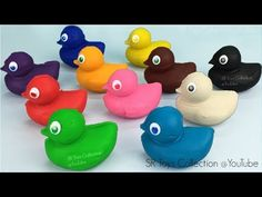 Play Dough Ducks with Shapes Cookie Cutters - YouTube