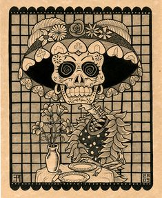 I came across Brandon Maldonado's website in an image search for day of the Dead inspired art. What a little treasure trove it was… There is a great deal of expression in Maldonado&#821…