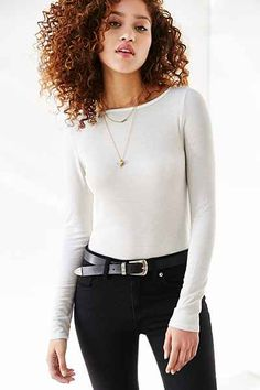 Truly Madly Deeply Callie Boatneck Top - Urban Outfitters rayon span