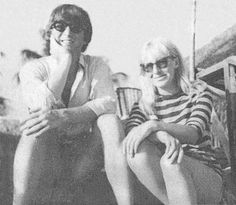 24th May 1964. John and Cynthia taking a break during their whirlwind tour of the main island of Tahiti on their last full day before flying home.
