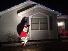the grinch wood cut out - Grinch Outdoor Christmas Decoration
