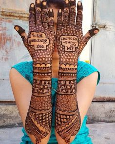 Here are the best and Latest Henna Mehndi Designs for Brides. Rajasthani Mehndi Designs, Dulhan Mehndi Designs, Best Mehndi Designs, Mehndi Designs For Girls, Pakistani Mehndi, Henna Mehndi, Mehendi, Mehndi Designs Bridal Hands, Engagement Mehndi Designs