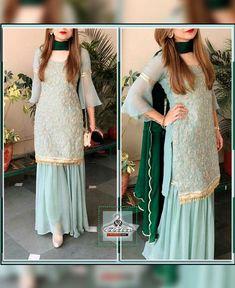 Grey/Green Sharara Dress