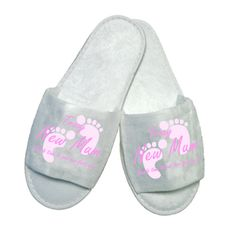 £5.50 Personalised New Mum feet up Slippers
