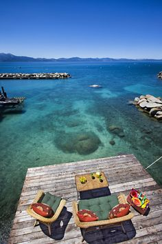 I want my own private beach spot to swim! Stunning Glenbrook, Nevada Home Has A Pier, Boathouse And An Amazing View Of Lake Tahoe (PHOTOS) Great Places, Places To See, Beautiful Places, Nevada Homes, Rustic Lake Houses, Lake Mountain, Sand And Water, Waterfront Homes, Lake Tahoe