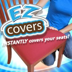 EZ Covers Transforms Old Dull And Dirty Chair To New Clean