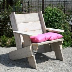 steigerhout stoel - scaffold board chair