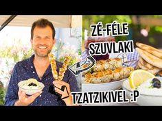 Csirkés szuvlaki tzatzikivel és pitával - YouTube Lidl, Grilling, Drinks, Street, Food, Kitchen, Youtube, Drinking, Beverages