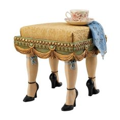 Design Toscano Folies Bergere Boudoir Stool from Wayfair. Shop more products from Wayfair on Wanelo.