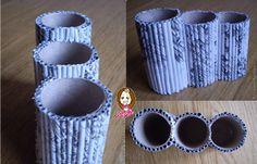 reciclando tubos de papel higiénico y otros