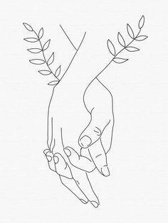 Art Abstrait Ligne, Outline Art, Outline Drawings, Line Art Tattoos, Abstract Line Art, Art Drawings Sketches, Couple Drawings, Doodle Art, Embroidery Art