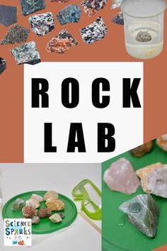 Set up your own rock lab to learn how to identify different types of igneous, sedimentary and metamorphic rocks. easy activities to introduce rocks to kids Biology For Kids, Chemistry For Kids, Science Activities For Kids, Science Experiments Kids, How To Identify Rocks, Different Types Of Rocks, Rock Identification, Igneous Rock, Rock Cycle