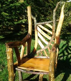 Harp Back Driftwood Chair