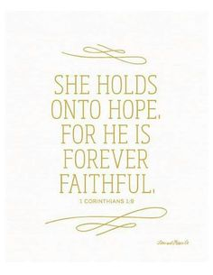 God is faithful ♥