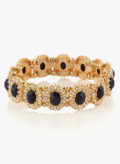 Accessorize navy stretch single bracelet