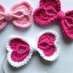Crochet Hearts Hair Bow - Free Pattern | Beautiful Skills - Crochet Knitting Quilting | Bloglovin'